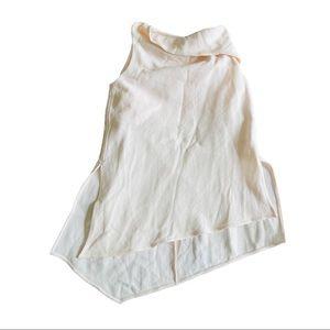 Cos blush asymmetric cowl neck blouse